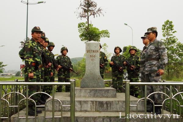 triển khai tuần tra song phương tại cột mốc 100 phía Việt Nam