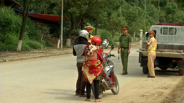 Công an huyện Bắc Hà tăng cường lực lượng đảm bảo an ninh trật tự