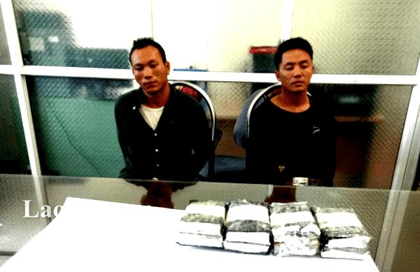 02 đối tượng MaSeo Phổng và Ma Seo Chính tại cơ quan điều tra.